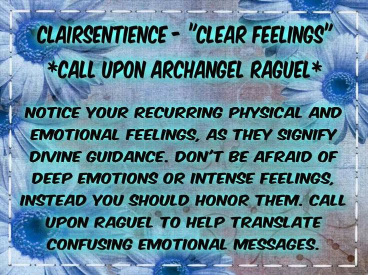 Clear feelings through Clairsentience